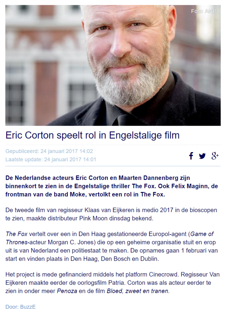 The Fox film met Eric Corton